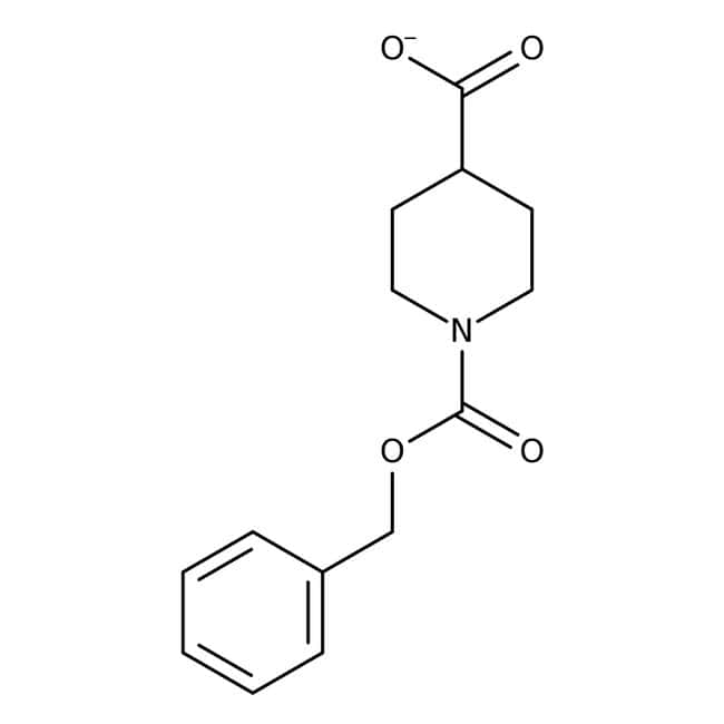 1-[(Benzyloxy)carbonyl]piperidine-4-carboxylic acid, 97%, Maybridge Amber Glass Bottle; 100g 1-[(Benzyloxy)carbonyl]piperidine-4-carboxylic acid, 97%, Maybridge