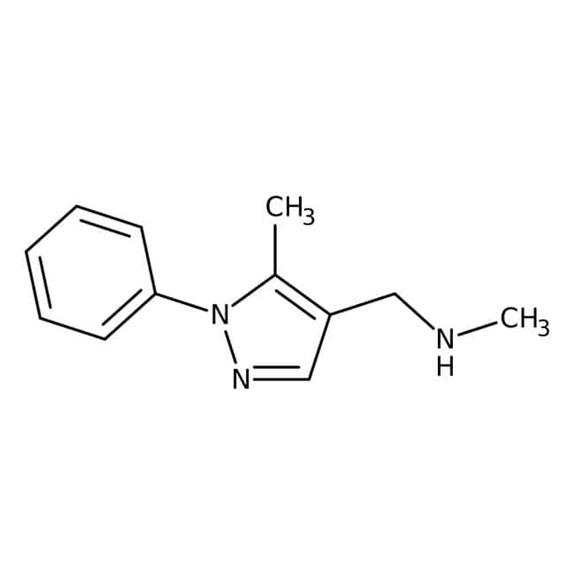 N,5-Dimethyl-1-phenyl-(1H-pyrazol-4-ylmethyl)amine, 97%, Maybridge Amber Glass Bottle; 250mg N,5-Dimethyl-1-phenyl-(1H-pyrazol-4-ylmethyl)amine, 97%, Maybridge