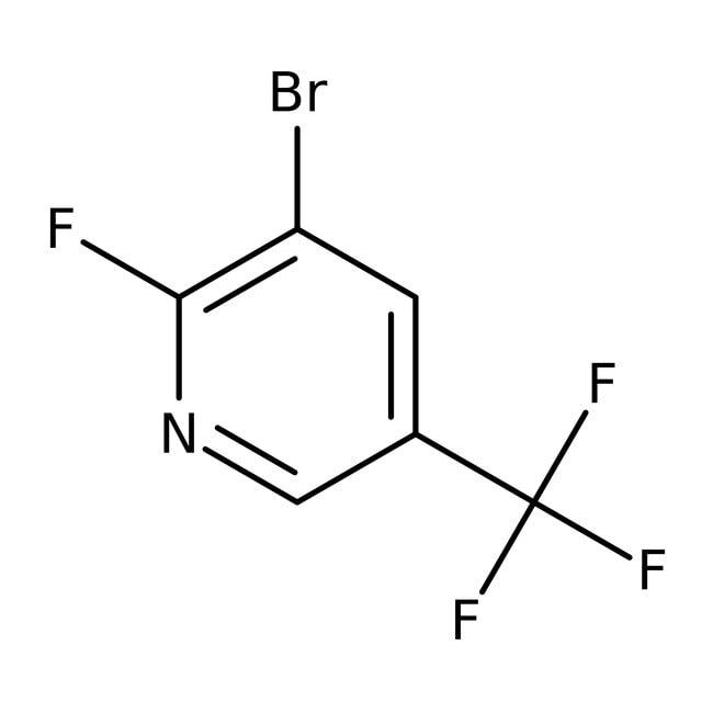 Alfa Aesar™3-Brom-2-fluor-5-(trifluormethyl)-pyridin, 97% 250mg Alfa Aesar™3-Brom-2-fluor-5-(trifluormethyl)-pyridin, 97%