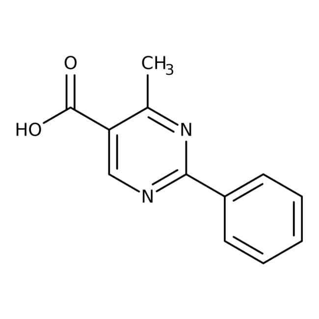 4-Methyl-2-phenyl-5-pyrimidinecarboxylic acid, 97%: Pyrimidinecarboxylic acids and derivatives Pyrimidines and pyrimidine derivatives