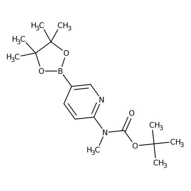 Alfa Aesar™6-(N-Boc-methylamino)-pyridin-3-boronsäurepinakolester, 95% 250mg Alfa Aesar™6-(N-Boc-methylamino)-pyridin-3-boronsäurepinakolester, 95%