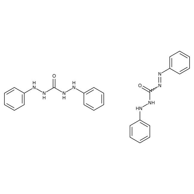 Alfa Aesar™Phenylazoformic acid 2-phenylhydrazide compound with 1,5-Diphenylcarbohydrazide, ACS 50g Alfa Aesar™Phenylazoformic acid 2-phenylhydrazide compound with 1,5-Diphenylcarbohydrazide, ACS