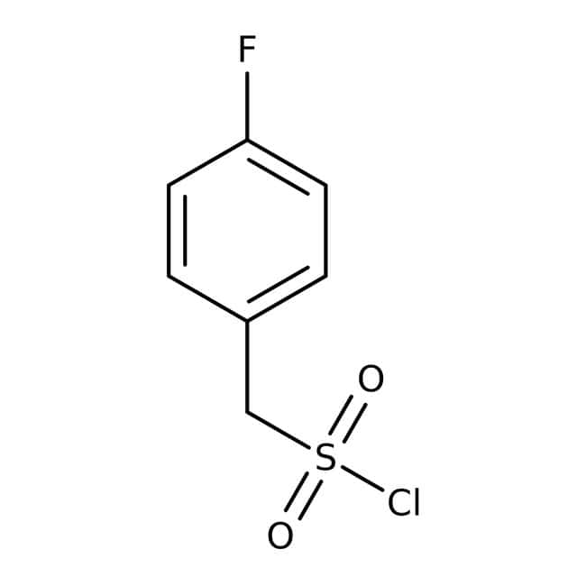 (4-Fluorophenyl)methanesulfonyl chloride, ≥95%, Maybridge Amber Glass Bottle; 1g (4-Fluorophenyl)methanesulfonyl chloride, ≥95%, Maybridge