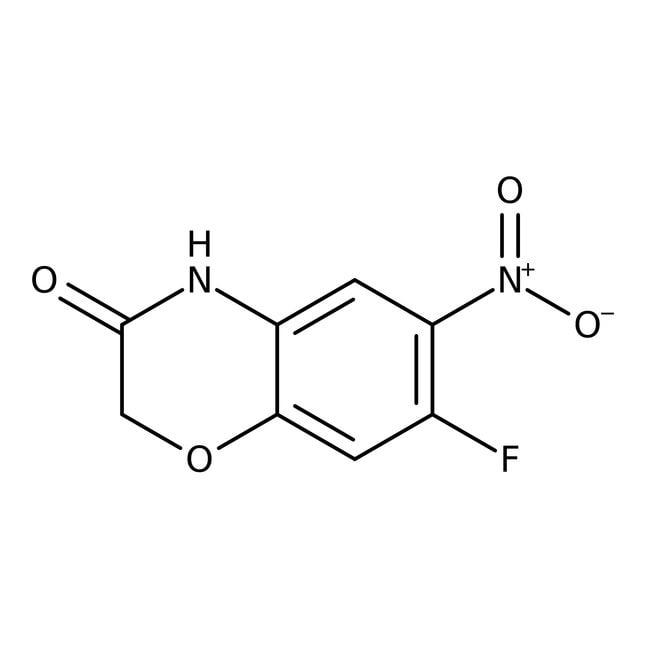 Alfa Aesar™7-Fluoro-6-nitro-2H-1,4-benzoxazin-3(4H)-one, 97% 1g Alfa Aesar™7-Fluoro-6-nitro-2H-1,4-benzoxazin-3(4H)-one, 97%