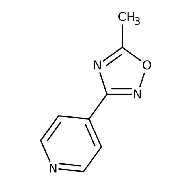 Alfa Aesar™5-Methyl-3-(4-pyridyl)-1,2,4-oxadiazole, 97%