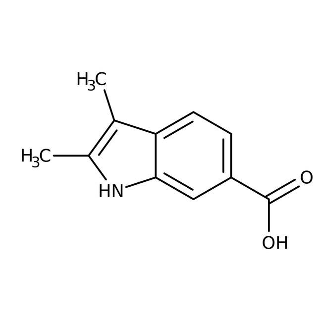 2,3-Dimethyl-1H-indole-6-carboxylic acid, 97%, Maybridge Amber Glass Bottle; 1g 2,3-Dimethyl-1H-indole-6-carboxylic acid, 97%, Maybridge