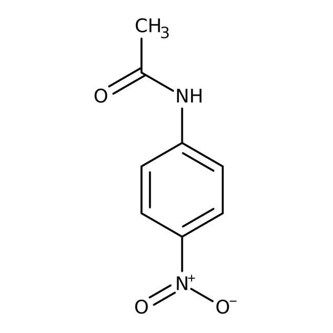 4'-Nitroacetanilide, 99%, ACROS Organics™ 100g; Glass bottle 4'-Nitroacetanilide, 99%, ACROS Organics™