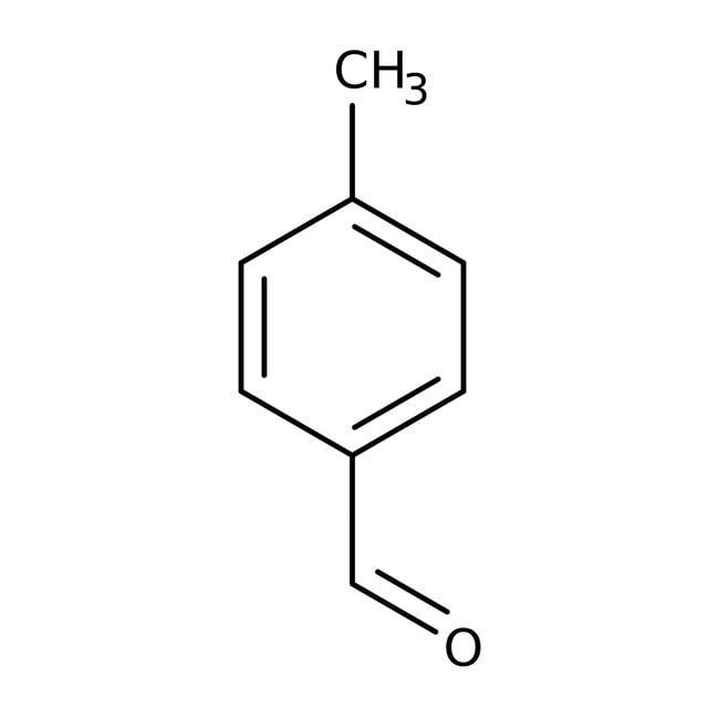 p-Tolualdehyde, 99+%, ACROS Organics™ 500g; Glass bottle p-Tolualdehyde, 99+%, ACROS Organics™