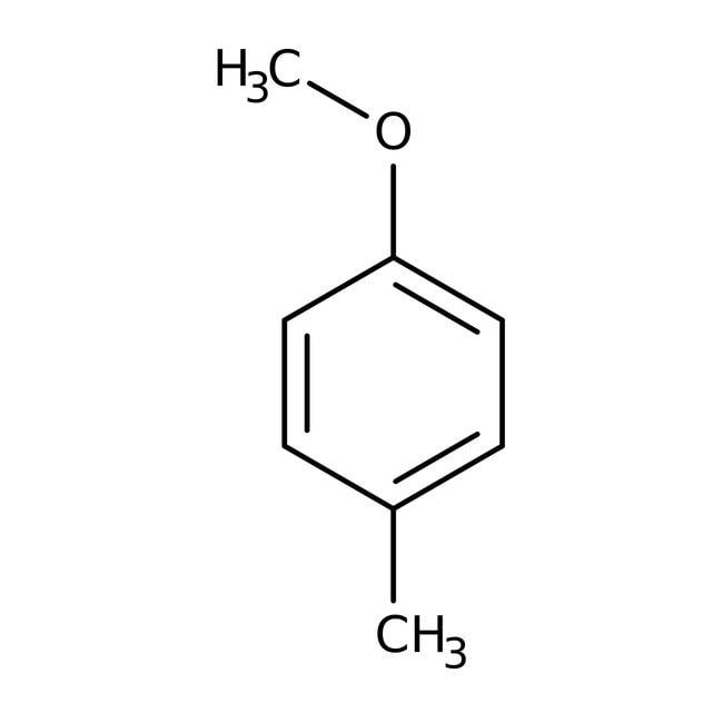 4-Methylanisole, 99%, ACROS Organics™ 2.5kg; Glass bottle 4-Methylanisole, 99%, ACROS Organics™