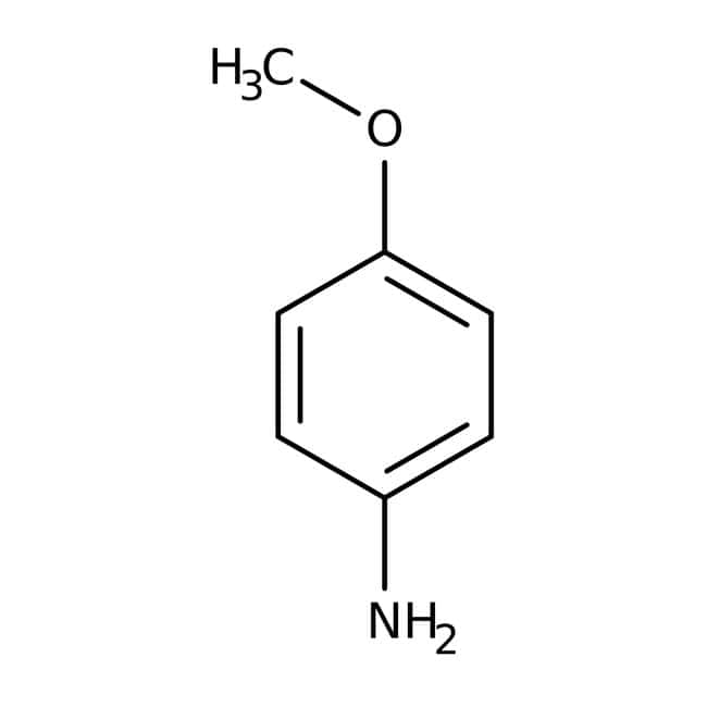 p-Anisidine, 99%, ACROS Organics™: Aniline and substituted anilines Benzene and substituted derivatives