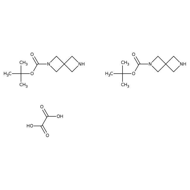 1-Boc-2,6-diazaspiro[3.3]heptane hemioxalate, 97%, Alfa Aesar™ 250mg 1-Boc-2,6-diazaspiro[3.3]heptane hemioxalate, 97%, Alfa Aesar™