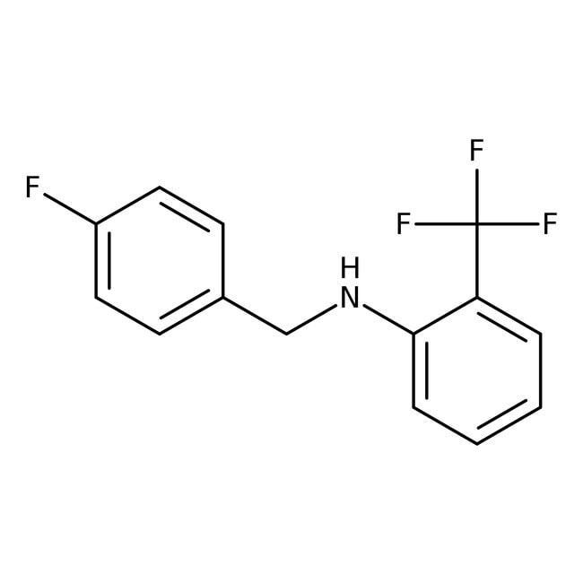 Alfa Aesar™N-(4-Fluorobenzyl)-2-(trifluoromethyl)aniline, 97% 1g Alfa Aesar™N-(4-Fluorobenzyl)-2-(trifluoromethyl)aniline, 97%