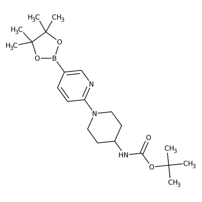 2-[4-(Boc-amino)-1-piperidinyl]pyridine-5-boronic acid pinacol ester, 96%, Alfa Aesar™ 250mg 2-[4-(Boc-amino)-1-piperidinyl]pyridine-5-boronic acid pinacol ester, 96%, Alfa Aesar™