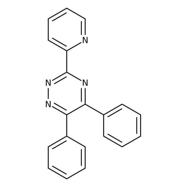 Alfa Aesar™5,6-Difenil-3-(2-piridil)-1,2 4-triazina, 99 % 25g Alfa Aesar™5,6-Difenil-3-(2-piridil)-1,2 4-triazina, 99 %