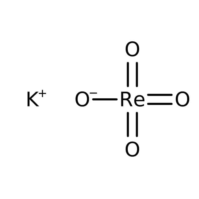 Alfa Aesar™Perrhénate de potassium, 99% (base de métaux), Re 64% 0,2g Alfa Aesar™Perrhénate de potassium, 99% (base de métaux), Re 64%