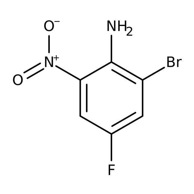 Alfa Aesar™2-Bromo-4-fluoro-6-nitroaniline, tech. 90% 1g Alfa Aesar™2-Bromo-4-fluoro-6-nitroaniline, tech. 90%