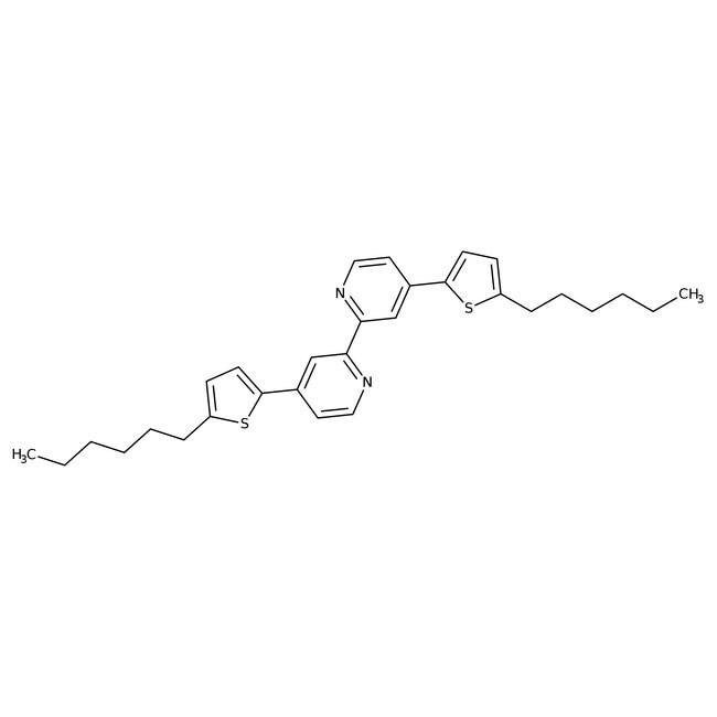 4,4′-Bis(5-hexyl-2-thienyl)-2,2′-bipyridyl 98.0+%, TCI America™