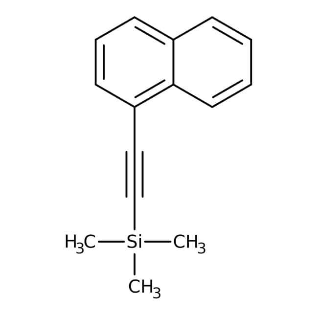 Alfa Aesar™ 1-(1-Naphthyl)-2-(trimethylsilyl)acetylene, 97%
