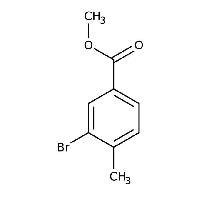 Alfa Aesar™Methyl 3-bromo-4-methylbenzoate, 99%: Halobenzoic acids and derivatives Benzoic acids and derivatives