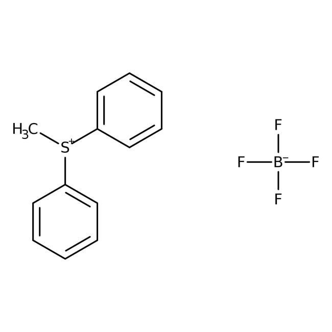 Alfa Aesar™Methyldiphenylsulfonium tetrafluoroborate, 95% 25g Alfa Aesar™Methyldiphenylsulfonium tetrafluoroborate, 95%