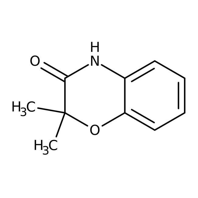 Alfa Aesar™2,2-Dimethyl-2H-1,4-benzoxazin-3(4H)-on, 97% 1g Alfa Aesar™2,2-Dimethyl-2H-1,4-benzoxazin-3(4H)-on, 97%