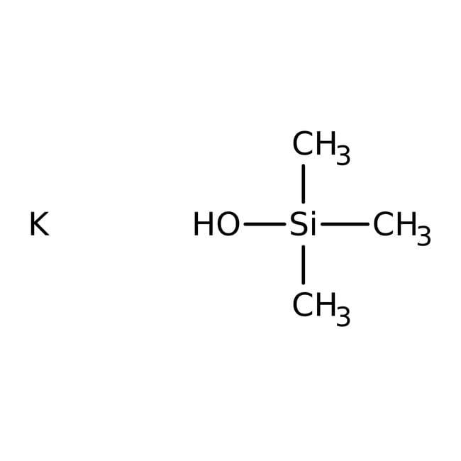 Potassium trimethylsilanolate, 2M solution in THF, AcroSeal , Acros Organics