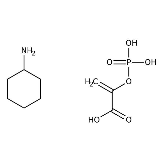 Alfa Aesar™Phosphoenolpyruvic acid mono(cyclohexylammonium) salt, 98% 5g Alfa Aesar™Phosphoenolpyruvic acid mono(cyclohexylammonium) salt, 98%