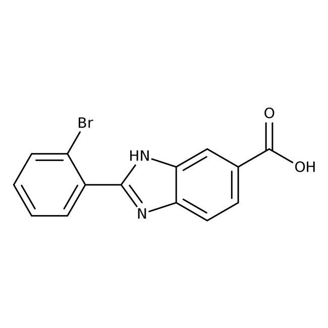 Alfa Aesar™2-(2-Bromophenyl)benzimidazole-5-carboxylic acid, 97% 1g Alfa Aesar™2-(2-Bromophenyl)benzimidazole-5-carboxylic acid, 97%