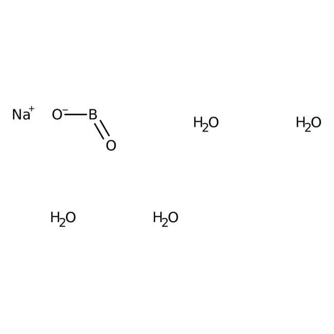 Sodium metaborate tetrahydrate, 98.5%, extra pure, ACROS Organics™