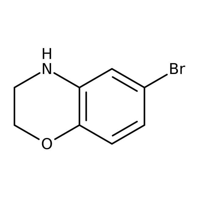 Alfa Aesar™6-Bromo-3,4-dihydro-2H-1,4-benzoxazine, 97%: Morpholines Oxazinanes