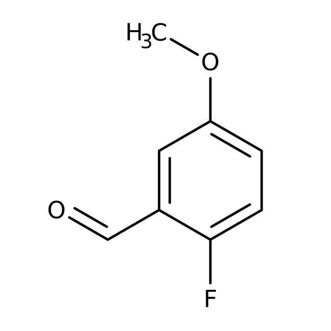 Alfa Aesar™2-Fluoro-5-methoxybenzaldehyde, 97% 25g Alfa Aesar™2-Fluoro-5-methoxybenzaldehyde, 97%