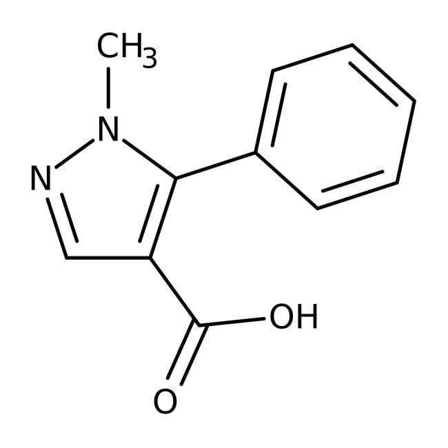 1-Methyl-5-phenyl-1H-pyrazole-4-carboxylic acid, 97%, Maybridge™