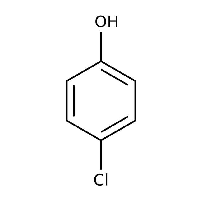 4-chlorophenol, 99+%, ACROS Organics™ 500g; Glass bottle 4-chlorophenol, 99+%, ACROS Organics™