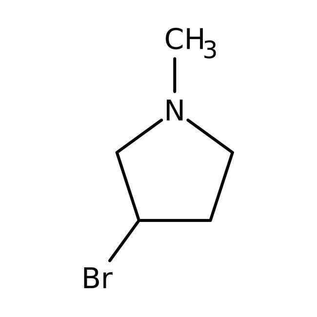 Alfa Aesar™3-Bromo-1-methylpyrrolidine, 97%: Pyrrolidines Organoheterocyclic compounds
