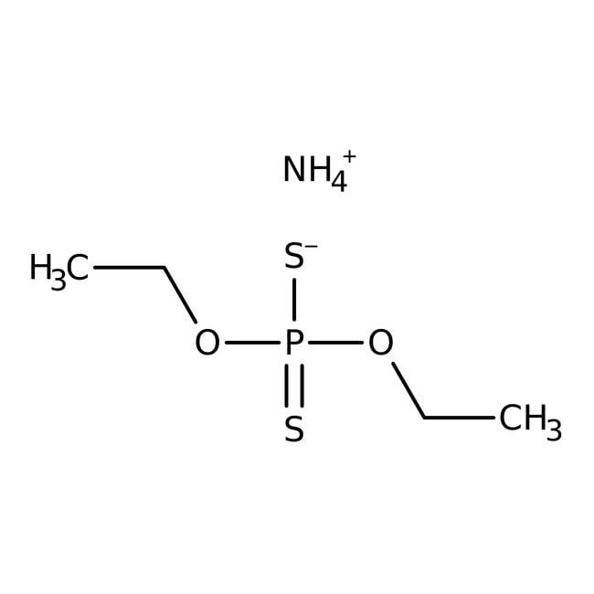 Alfa Aesar™Ammonium O,O'-diethyl dithiophosphate, typically 95% 25g Alfa Aesar™Ammonium O,O'-diethyl dithiophosphate, typically 95%