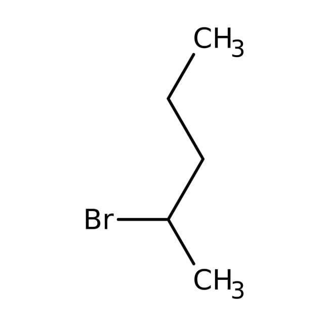 2-Bromopentane, 90%, tech., ACROS Organics™ 500mL; Glass bottle 2-Bromopentane, 90%, tech., ACROS Organics™