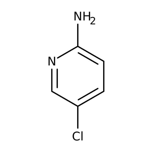 2-Amino-5-chloropyridine, 98%, ACROS Organics™ 100g; Plastic bottle 2-Amino-5-chloropyridine, 98%, ACROS Organics™
