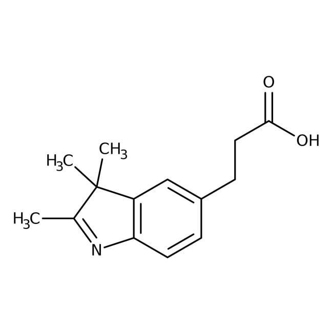 Alfa Aesar™3-(2,3,3-Trimethyl-3H-indol-5-yl)-propionsäure, 96% 1g Alfa Aesar™3-(2,3,3-Trimethyl-3H-indol-5-yl)-propionsäure, 96%