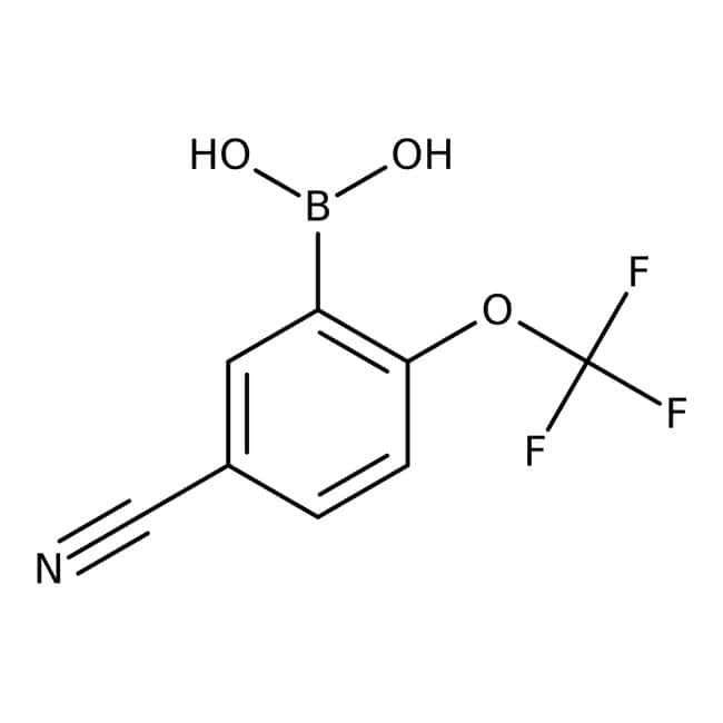 Alfa Aesar™ 5-Cyano-2-(trifluoromethoxy)benzeneboronic acid, 97%