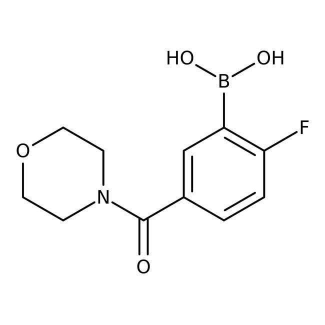 Alfa Aesar™2-Fluoro-5-(4-morpholinylcarbonyl)benzeneboronic acid, 97%