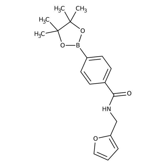 Alfa Aesar™4-(Furfurylaminocarbonyl)benzeneboronic acid pinacol ester, 97% 1g Alfa Aesar™4-(Furfurylaminocarbonyl)benzeneboronic acid pinacol ester, 97%