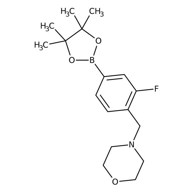 3-fluoro-4-(n-morpholinomethyl)phenylboronic acid, 97%, Maybridge Amber Glass Bottle; 1g Phenylmethylamines