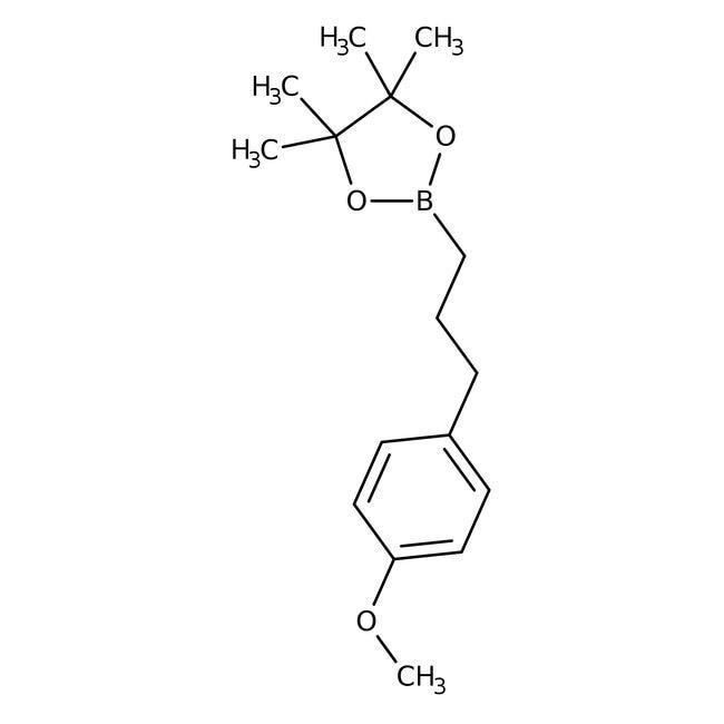 Alfa Aesar™Éster de pinacol de ácido 3-(4-metoxifenil)-1-propilborónico, 97% 1g Alfa Aesar™Éster de pinacol de ácido 3-(4-metoxifenil)-1-propilborónico, 97%