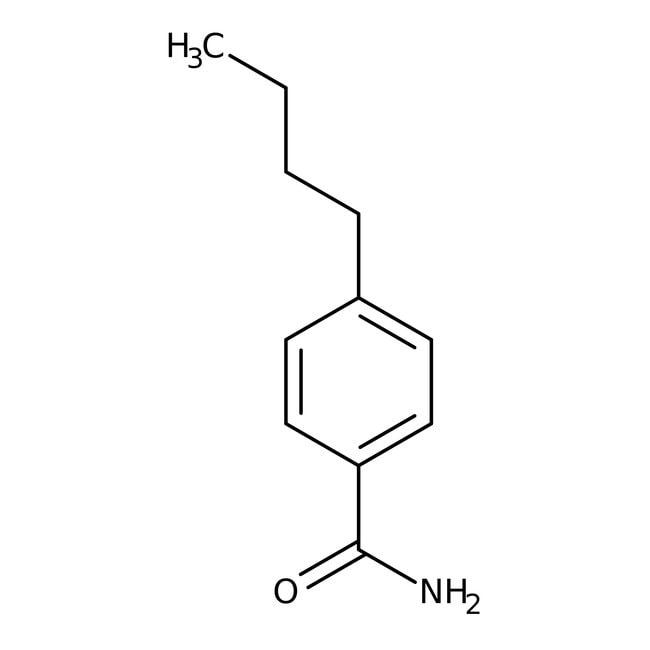 Alfa Aesar™4-n-Butilbenzamida, 97% 25g Alfa Aesar™4-n-Butilbenzamida, 97%
