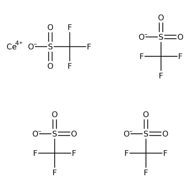 Alfa Aesar™Cer(IV)-trifluormethansulfonat, 98% 25g Alfa Aesar™Cer(IV)-trifluormethansulfonat, 98%