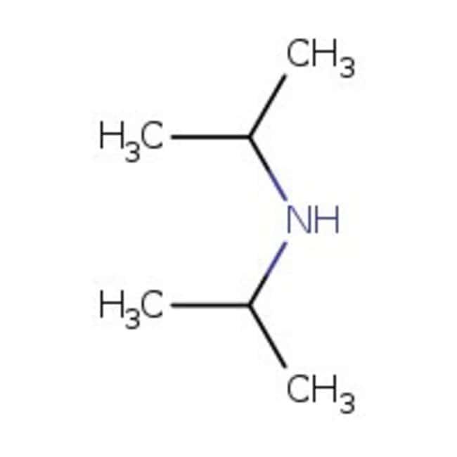 Diisopropylamine, 99+%, ACROS Organics™ 5L; Plastic Jerry can Diisopropylamine, 99+%, ACROS Organics™