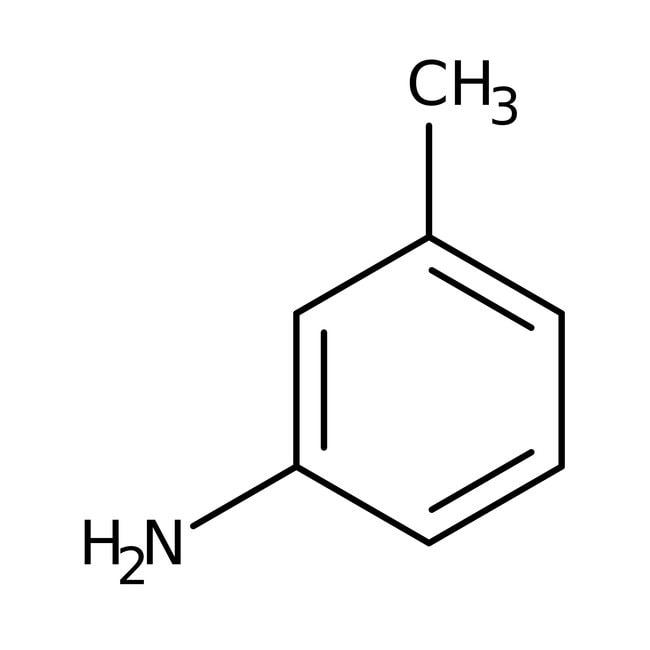 m-toluidine, 99%, AcrosOrganics 5 l ; tambour en plastique m-toluidine, 99%, AcrosOrganics