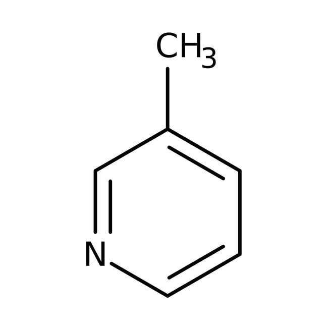 3-Picoline, 99%, ACROS Organics™ 250mL; Glass bottle 3-Picoline, 99%, ACROS Organics™