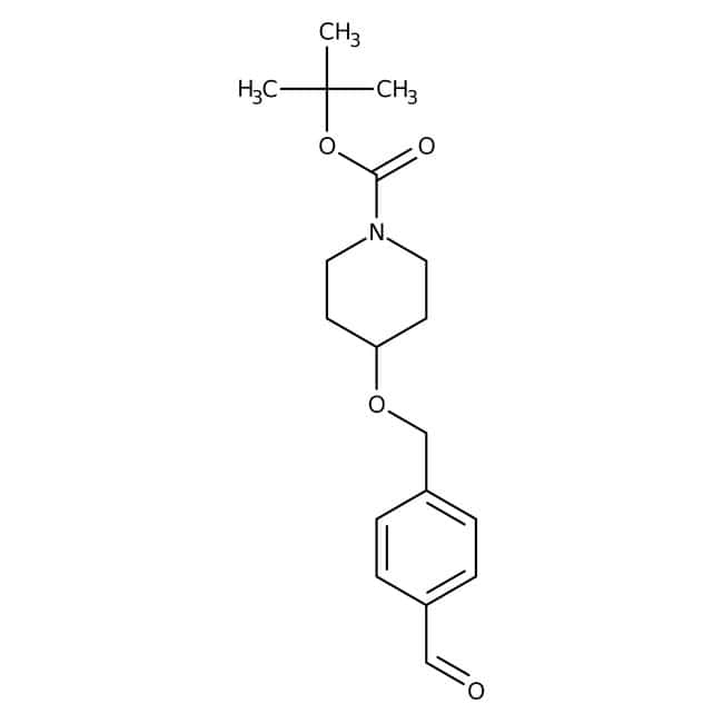 tert-butyl 4-(4-formylbenzyloxy)piperidine-1-carboxylate, 90%, Maybridge™