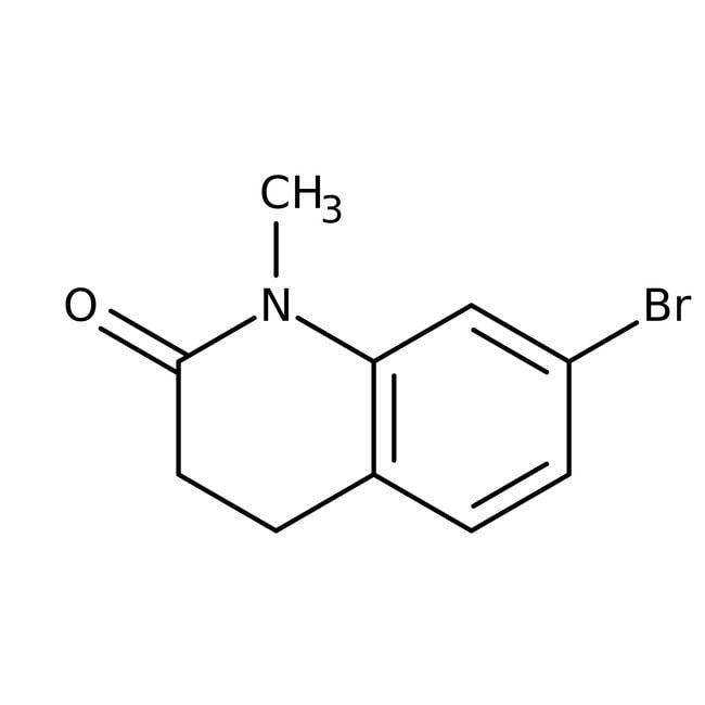 Alfa Aesar™7-Bromo-1-methyl-3,4-dihydro-2(1H)-quinolinone, 96%: Chemicals Products